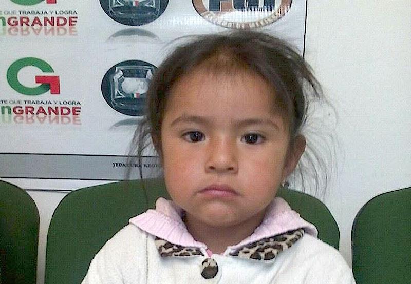 Kenya Guadalupe tiene sólo dos años de edad, desapareció hace dos meses. (FOTO: Especial)