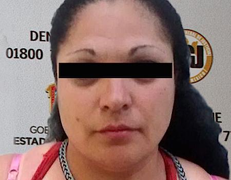 Paola Alejandra Martínez García, de 27 años de edad, fue detenida.