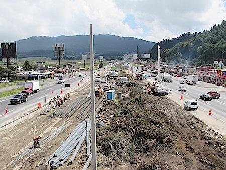 Las obras corresponden a la autopista La Marquesa Lerma.