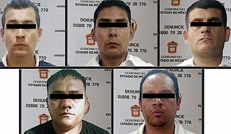 Fueron detenidos en la vía José López Portillo, en la colonia Santa María, municipio de Coacalco.