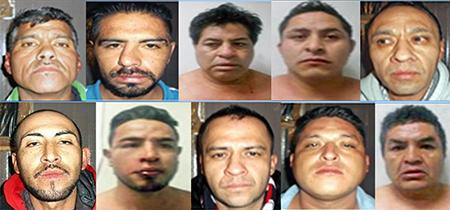 Los detenidos fueron presentados ante el Ministerio Público.