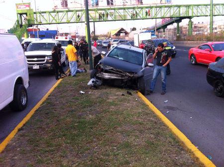 El accidente se registró en dirección norte.