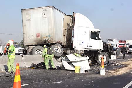 El accidente ocurrió en el kilómetro 24.