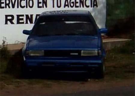 El auto fue robado en Atlacomulco.