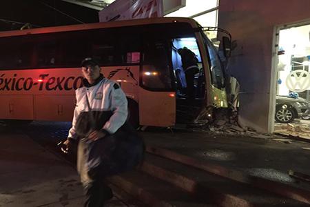 El operador fue trasladado a un hospital de la zona.