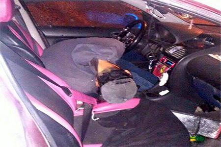 Las pertenencias de las víctimas se encontraban en el auto.