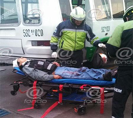 El hombre fue trasladado con vida a una clínica del IMSS.