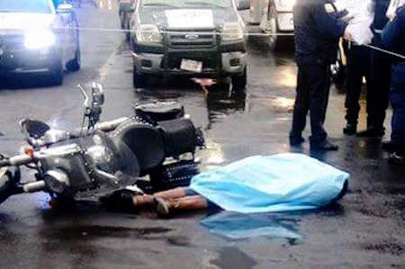motociclista muerta