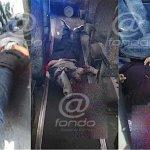 Justiciero balea a dos asaltantes de autobús de pasajeros en Periférico