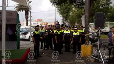 Los policías no afectaron la vialidad de ninguna avenida.