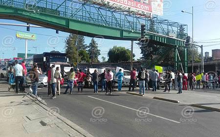 Los manifestantes se retiraron después de una hora.