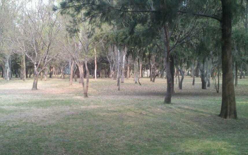 La joven aseguró que se refugió en el parque y ah´pi fue interceptada.