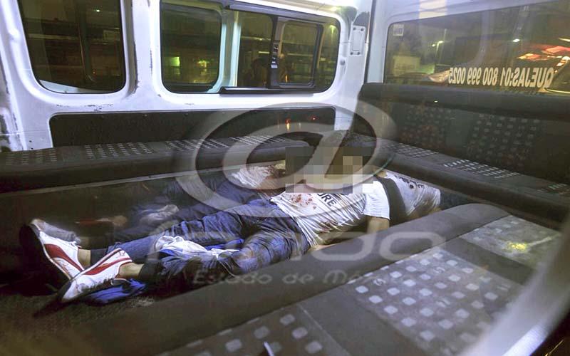 También una pasajera resulto con herida de bala.