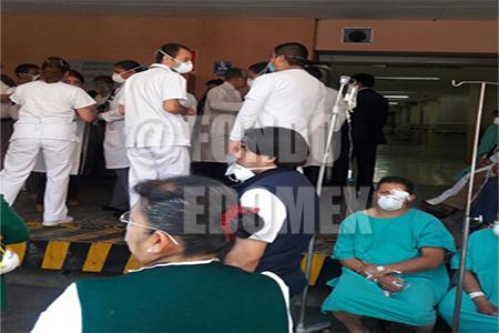 Cerca de 50 pacientes fueron evacuados.