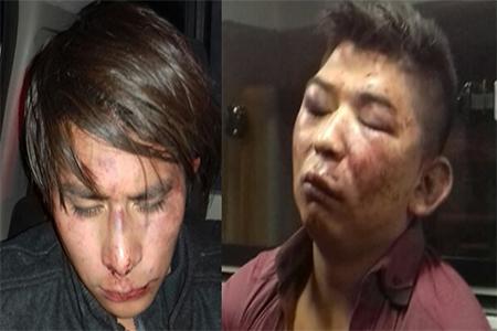 Los dos jóvenes fueron rescatados por policías y llevados al Ministerio Público.