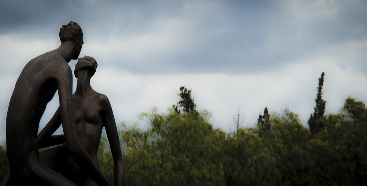 El parque exhibe solo obras de esta artista.