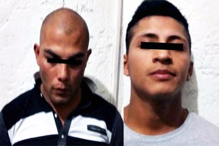 Los detenidos portaban una pistola propiedad de la Comisión Estatal de Seguridad