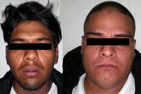 """Los detenidos fueron identificados como Óscar Manuel """"N"""" y Giovanni """"N"""","""
