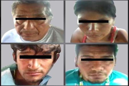 Los cuatro detenidos están tras las rejas hasta que se determine su culpabilidad
